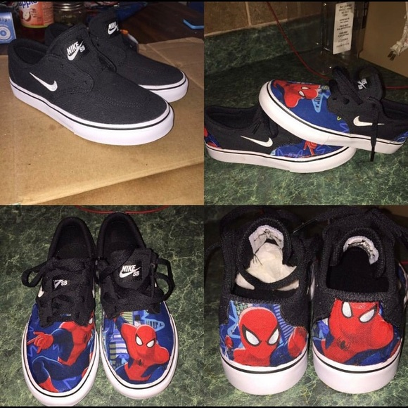 Hand custom Nike Spider Man Shoes